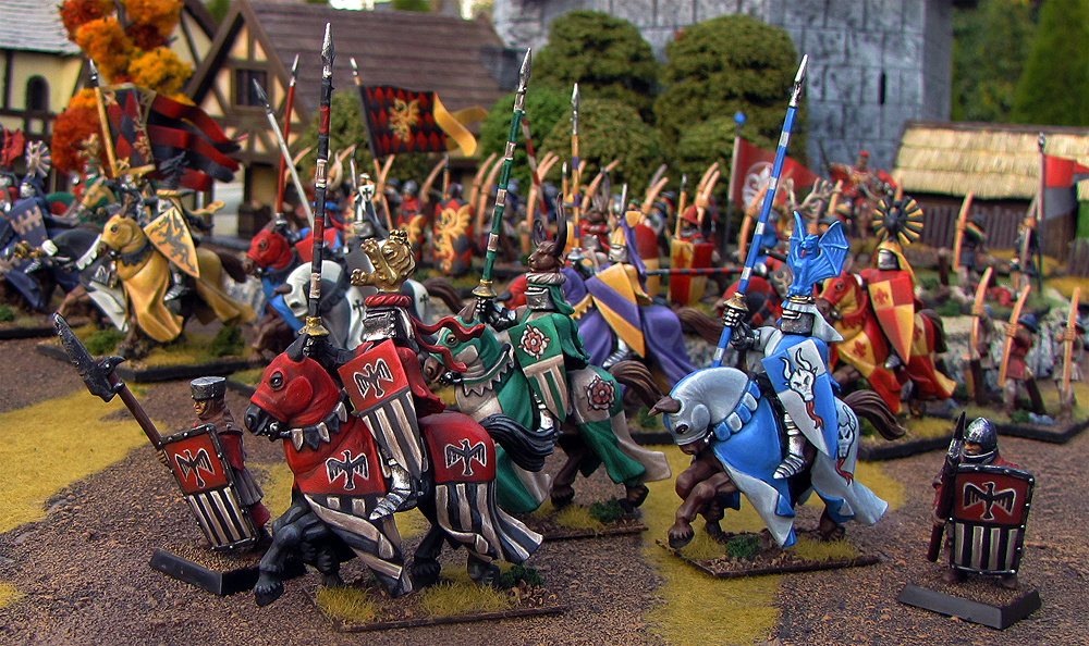 Lord Stroud Marches to Battle in Bretonnia from Games Workshop painted by Neldoreth - An Hour of Wolves & Shattered Shields