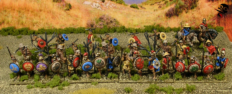 Aitolian Greek Army all mustered up from Xyston Miniatures, Painted by Neldoreth