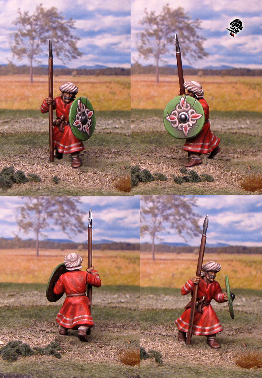 Al-Andalus Andalusian Spearmen from Gripping Beast painted by Neldoreth - An Hour of Wolves & Shattered Shields