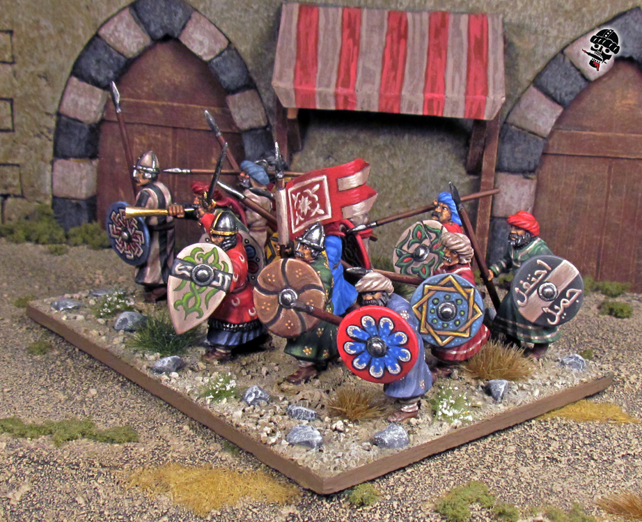 Al-Andalus Andalusian Infantry from Gripping Beast Plastic Arab and  painted by Neldoreth - An Hour of Wolves & Shattered Shields