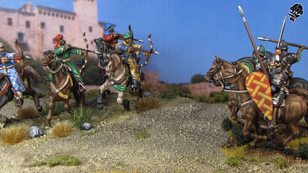 Al-Andalus Andalusian Light Horse and Norman Knights from HaT and Conquest Miniatures painted by Neldoreth - An Hour of Wolves & Shattered Shields