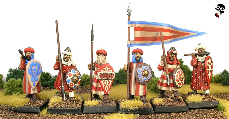 Andalusian Spearmen from Gripping Beast Miniatures painted by Neldoreth - An Hour of Wolves & Shattered Shields