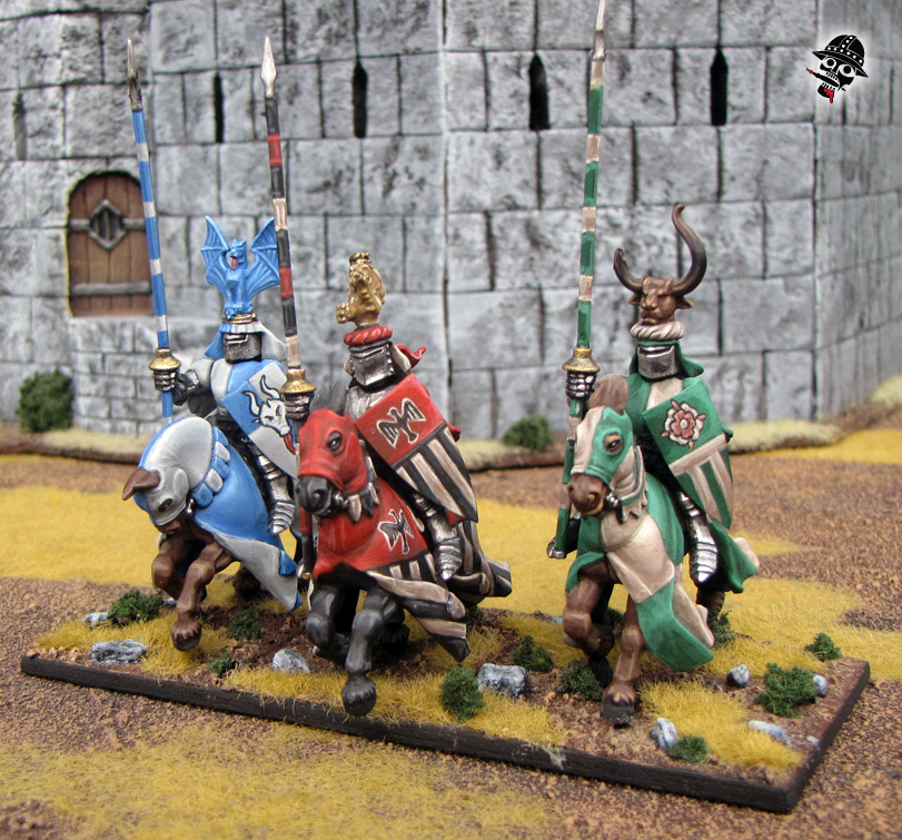 Warhammer Kings of War Bretonnian Knights from Games Workshop painted by Neldoreth - An Hour of Wolves & Shattered Shields