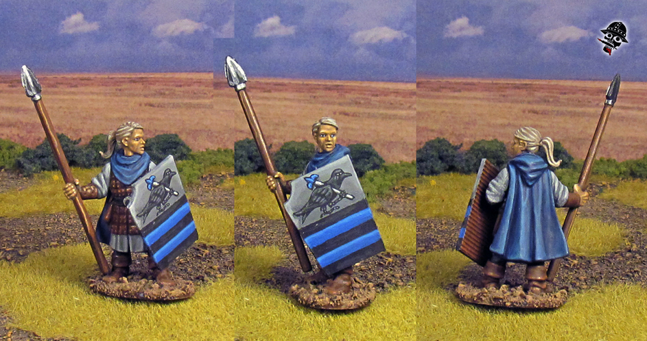 Bretonnian Women and Men at Arms from Oathmark Miniatures w/ Statuesque female head painted by Neldoreth - An Hour of Wolves & Shattered Shields
