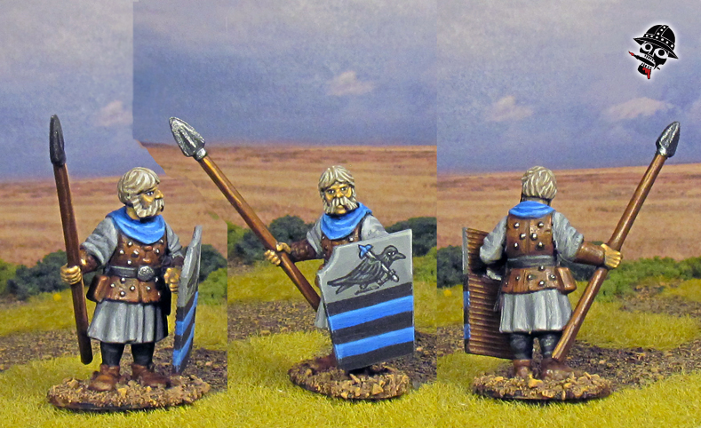 Bretonnian Women and Men at Arms from Oathmark Miniatures painted by Neldoreth - An Hour of Wolves & Shattered Shields