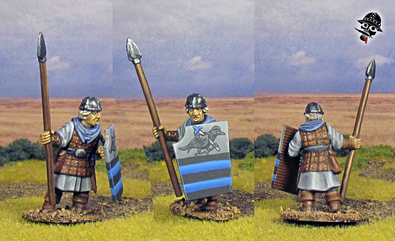Bretonnian Women & Men at Arms from Oathmark miniatures painted by Neldoreth - An Hour of Wolves & Shattered Shields