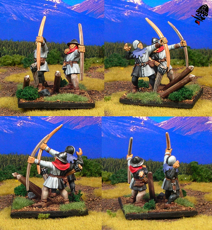 Bretonnian archers from Games Workshop painted by Neldoreth - An Hour of Wolves & Shattered Shields