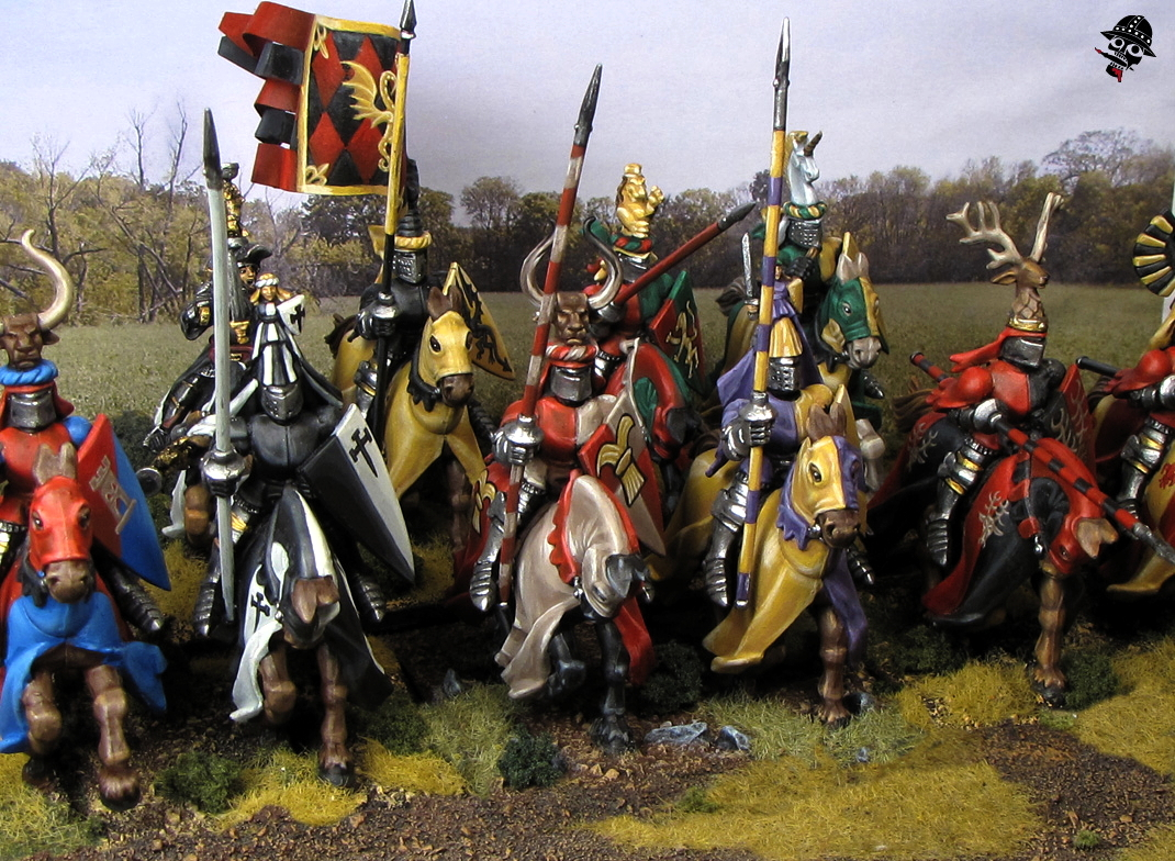 Bretonnian Knights from Games Workshop painted by Neldoreth - An Hour of Wolves & Shattered Shields