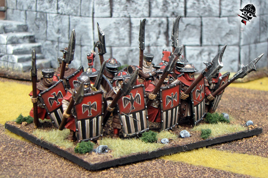 Warhammer Kings of War Bretonnian Men At Arms from Games Workshop painted by Neldoreth - An Hour of Wolves & Shattered Shields