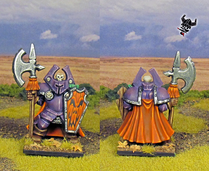 Battle Masters Warhammer Chaos Warriors from Milton Bradley and Games Workshop painted by Neldoreth - An Hour of Wolves & Shattered Shields