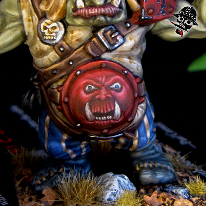 Battle Masters Warhammer Chaos Ogre from Milton Bradley and Games Workshop painted by Neldoreth - An Hour of Wolves & Shattered Shields