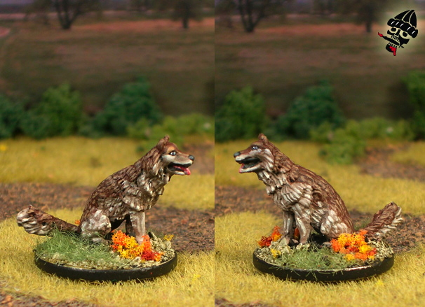 Wolf Animal Companion from RAFM Miniatures painted by Neldoreth - An Hour of Wolves & Shattered Shields