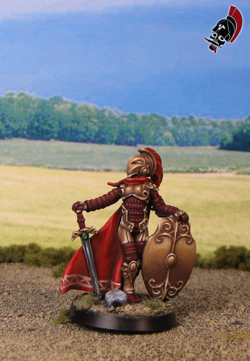 Female Roman Warrior from Reaper Miniatures painted by Neldoreth - An Hour of Wolves & Shattered Shields