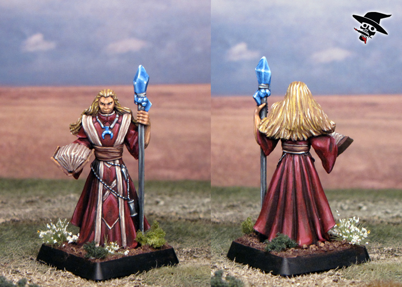 Adran the Wizard from Reaper Miniatures painted by Neldoreth - An Hour of Wolves & Shattered Shields
