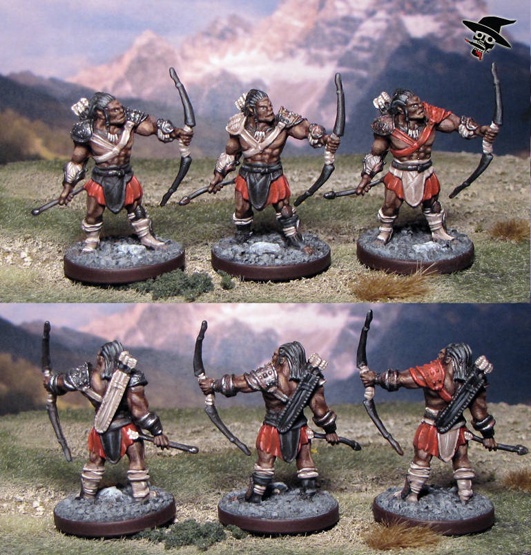 Bugbear/Orc Archers from Wizards of the Coast painted by Neldoreth - An Hour of Wolves & Shattered Shields