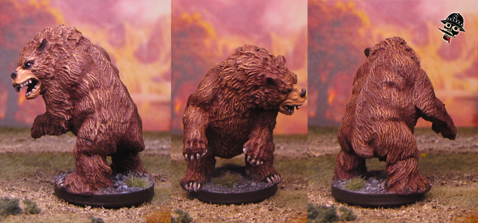 Grizzly bear from Wizards of the Coast painted by Neldoreth - An Hour of Wolves & Shattered Shields