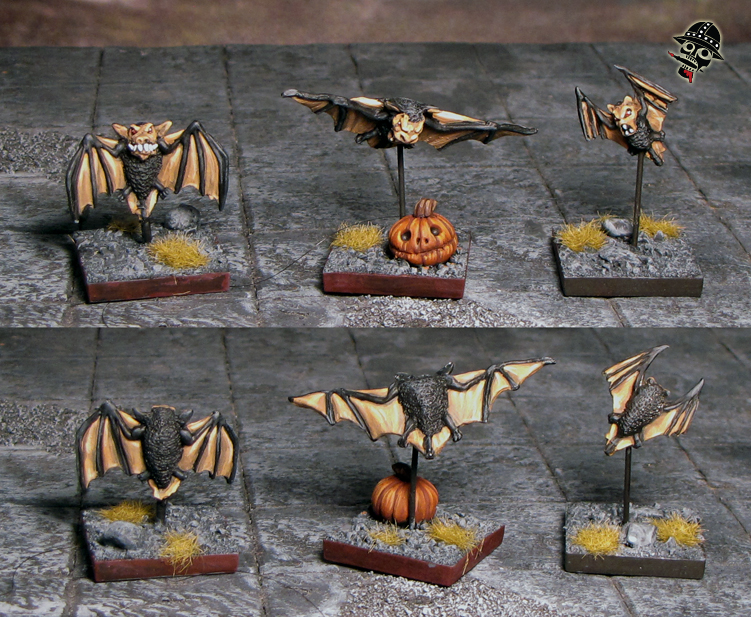 bats in a bat swarm from Games Workshop painted by Neldoreth - An Hour of Wolves & Shattered Shields