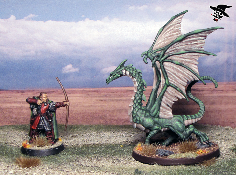 Dragon and Fighter Face Off from Games Workshop and Wizards of the Coast painted by Neldoreth - An Hour of Wolves & Shattered Shields