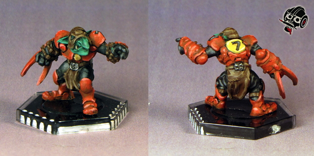 Klaxus Redbombers - not the Greenmoon Smackers - Dreadball team from Mantic Games painted by Neldoreth - An Hour of Wolves & Shattered Shields