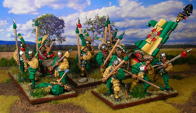 The Empire spearmen from Games Workshop painted by Neldoreth - An Hour of Wolves & Shattered Shields