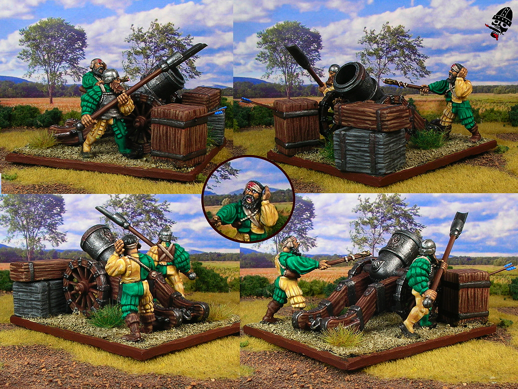 The Empire cannons and mortars from Games Workshop painted by Neldoreth - An Hour of Wolves & Shattered Shields