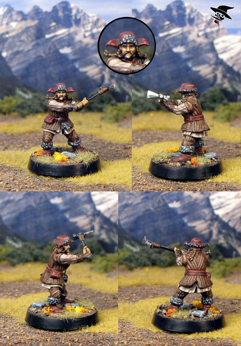 Bifur from the Escape from Goblin town box set from Games Workshop painted by Neldoreth - An Hour of Wolves & Shattered Shields