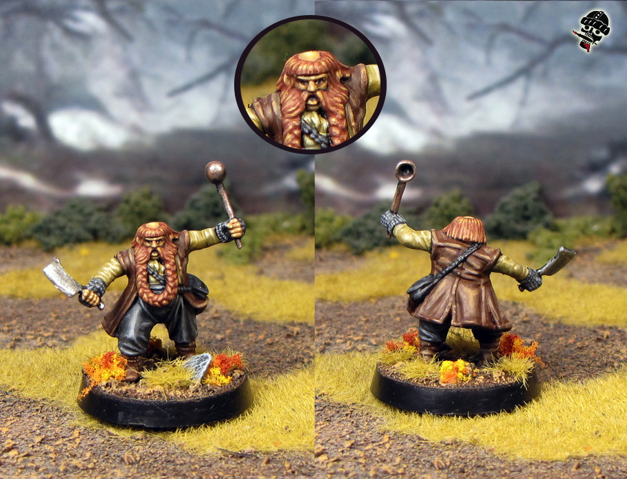 Bombur from the Escape from Goblin Town bot set from Games Workshop painted by Neldoreth - An Hour of Wolves & Shattered Shields