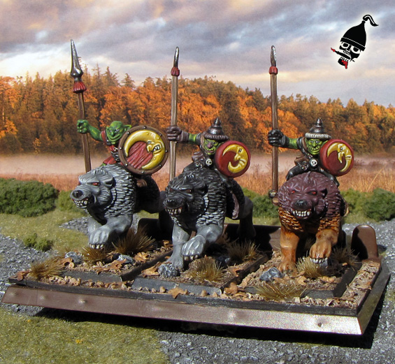 Battle Masters Goblin Wolf Riders from Milton Bradley and Games Workshop painted by Neldoreth - An Hour of Wolves & Shattered Shields