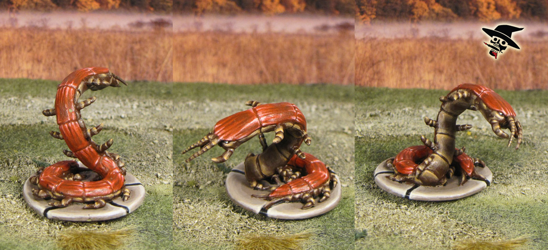 Mice & Mystics The Vile, Mouse-eating Milipede from Plaid Hat Games painted by Neldoreth - An Hour of Wolves & Shattered Shields