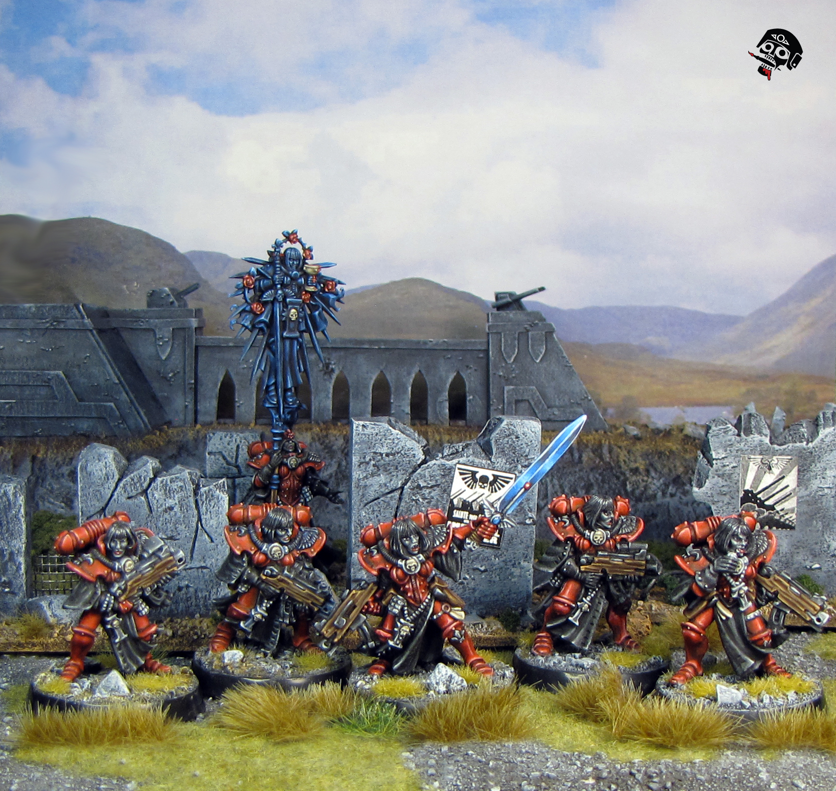 Sisters of Battle Squad from Games Workshop painted by Neldoreth - An Hour of Wolves & Shattered Shields