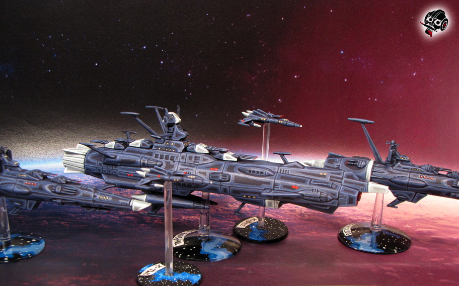 Star Blazers Space Ship Yamato andromeda from Bandai painted by Neldoreth - An Hour of Wolves & Shattered Shields