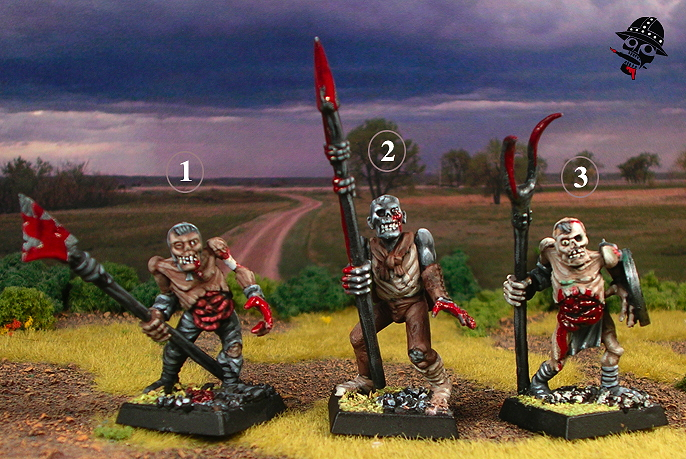 Zombie Test Figures using Games Workshop figs