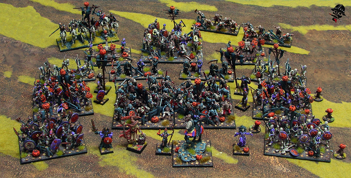 The entire Kings of War undead army assembled!