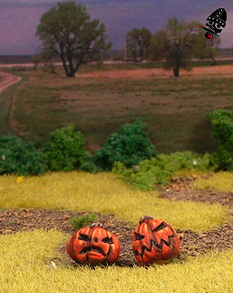 28mm jack-o-lanterns sculpted and painted by Neldoreth