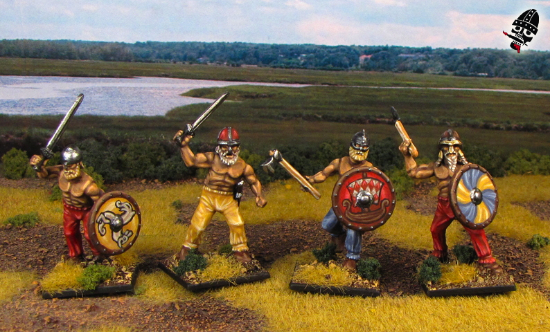 Viking berzerkers from Wargames Factory and Gripping Beast painted by Neldoreth - An Hour of Wolves & Shattered Shields