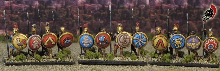 Xyston hoplites painted by Neldoreth