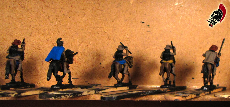 Xyston unpainted Thessalian cavalry on popsicle sticks