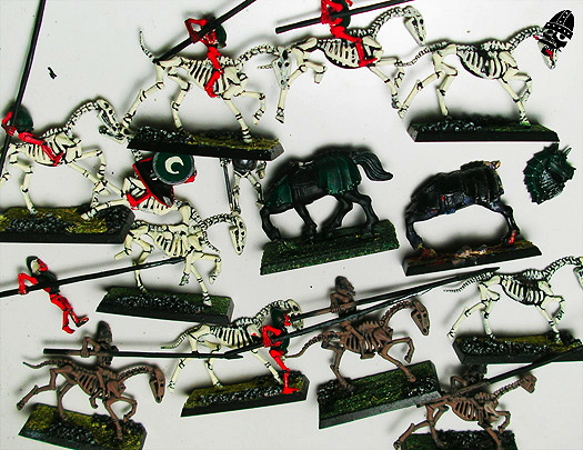 Undead cavalry waiting to be re-painted!